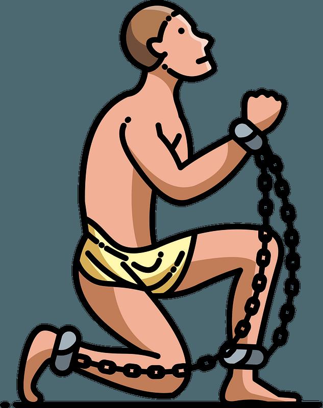 Slave person clipart