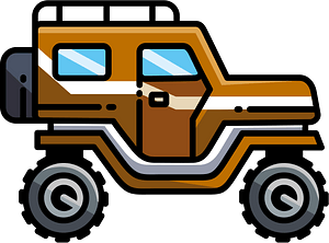 Safari jeep clipart