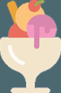 Ice cream sundae immagine clipart
