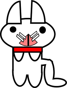 White cat with red collar 클립 아트