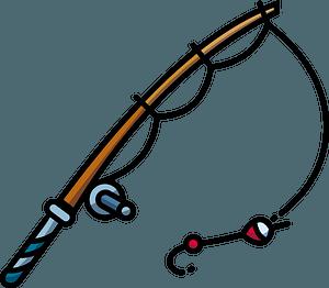 Fishing rod clipart