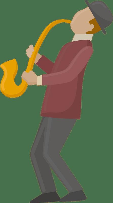 Jazz musician clipart