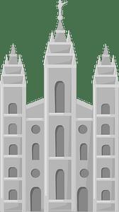 LDS temple clipart