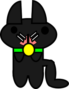 Black cat with green collar 클립 아트