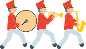 Marching band clipart