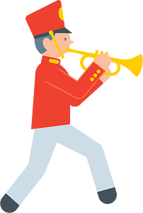 Marching band musician clipart