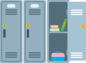 School locker clipart