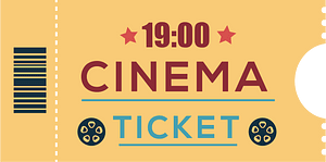 Movie ticket clipart