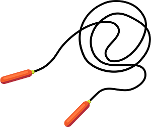 Jump rope clipart