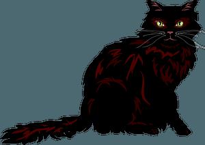 Dark cat clipart