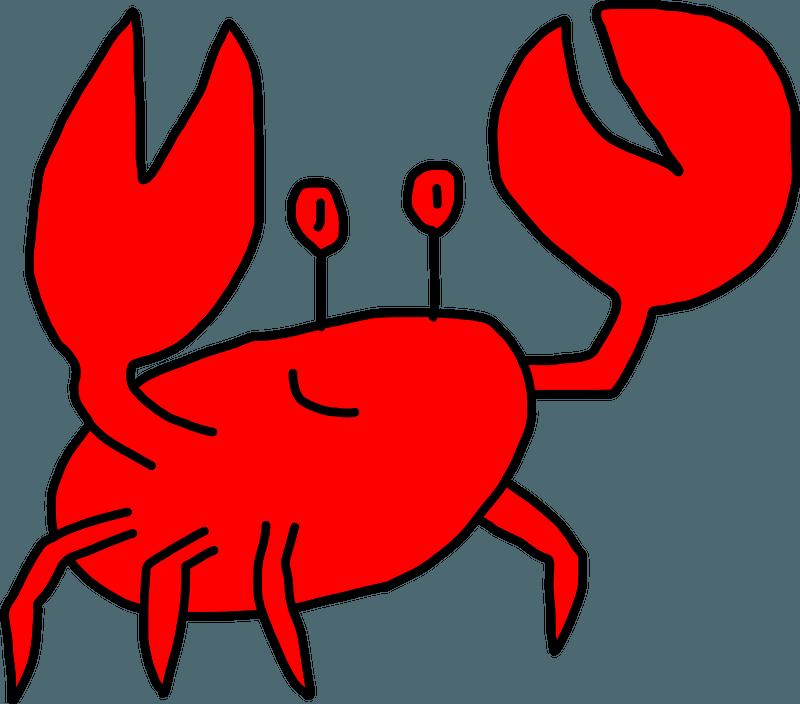Funny Crab Clip Art