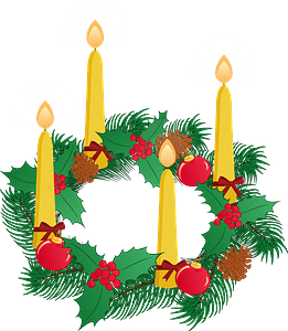 Advent decorations clipart