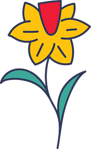 Easter flower clipart