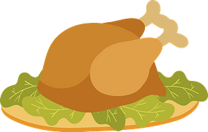 Fried turkey clipart