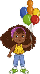 Birthday girl clipart