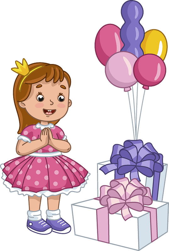 Birthday girl clipart