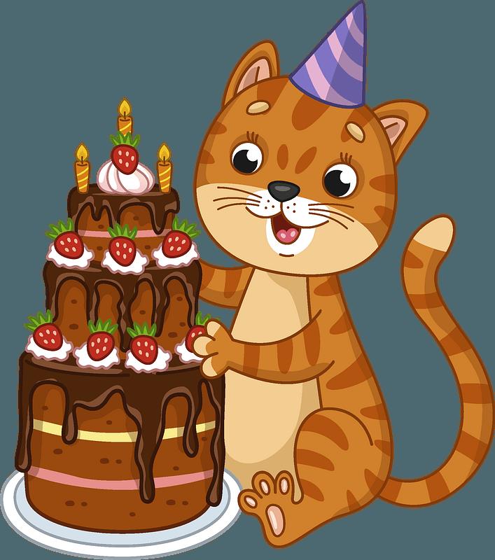 Birthday Cat Clipart Free Download Transparent Png Creazilla