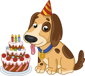 Birthday dog clipart