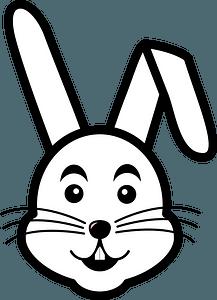 Cartoon rabbit face clipart