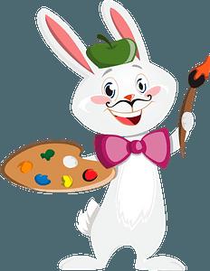 Bunny painter clipart