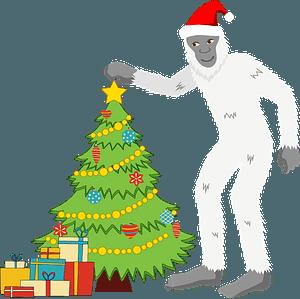 Christmas Yeti clipart