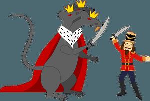 Nutcracker and rat king clipart