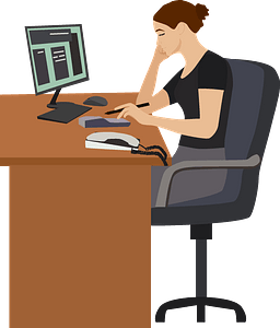 Office worker clipart