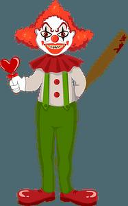 Evil clown clipart