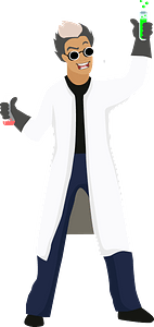 Evil scientist clipart