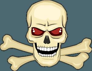 Evil skull clipart