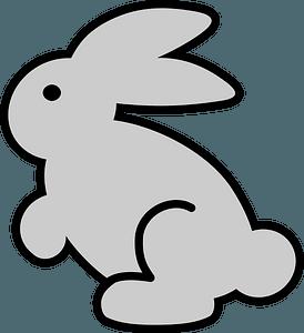 Gray bunny icon clipart
