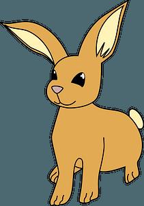 Cartoon brown bunny clipart