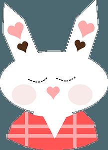 Cartoon bunny clipart