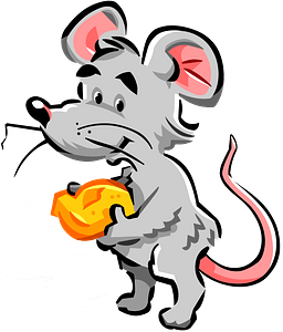 Cartoon mouse with cheese 剪贴画