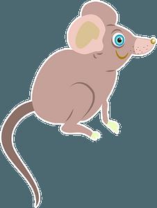 Brown cartoon mouse 剪贴画