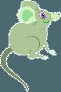Green cartoon mouse 剪贴画
