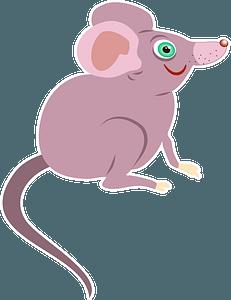Pink cartoon mouse 剪贴画