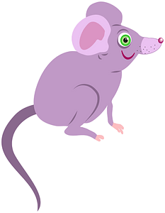 Purple cartoon mouse 剪贴画
