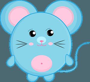 Blue cartoon mouse 剪贴画