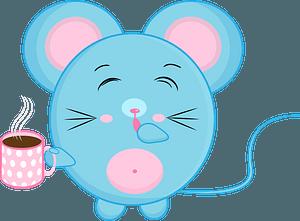 Cartoon mouse with coffee 剪贴画