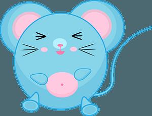 Harmful cartoon mouse 剪贴画