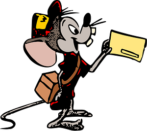 Mouse postman clipart