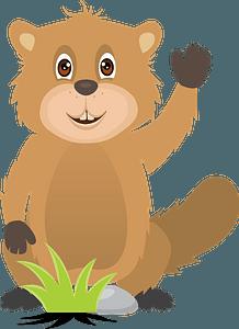 Friendly beaver clipart