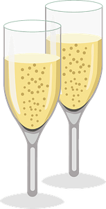 Champagne flutes clipart