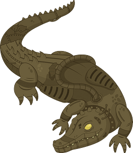 Steampunk Alligator clipart