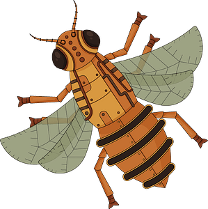 Steampunk Bee clipart