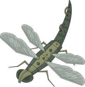 Steampunk Dragonfly clipart