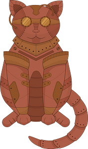 Steampunk Cat clipart