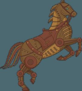 Кінь Стімпанк кліпарт