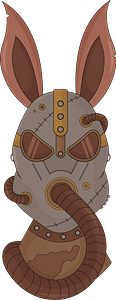 Steampunk Rabbit clipart